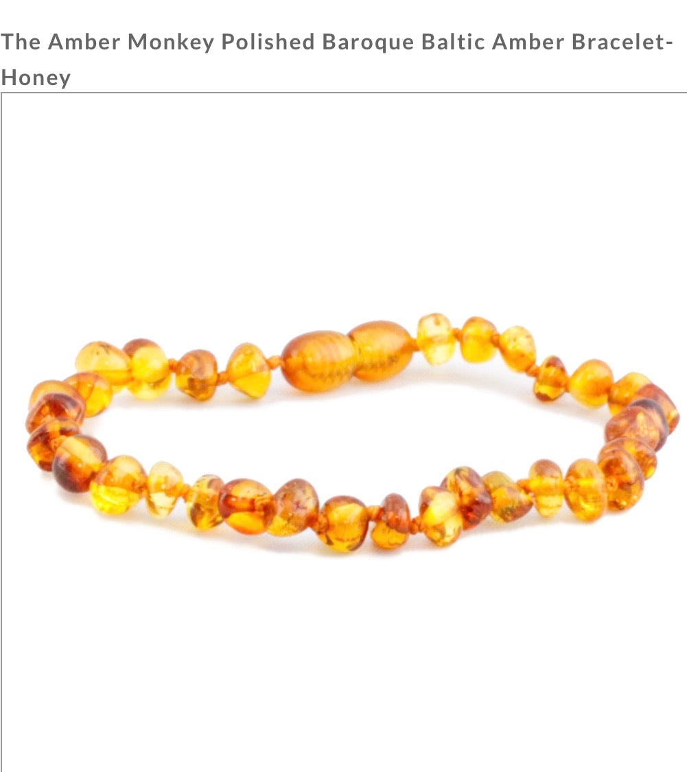 The Amber Monkey Bracelet- Honey