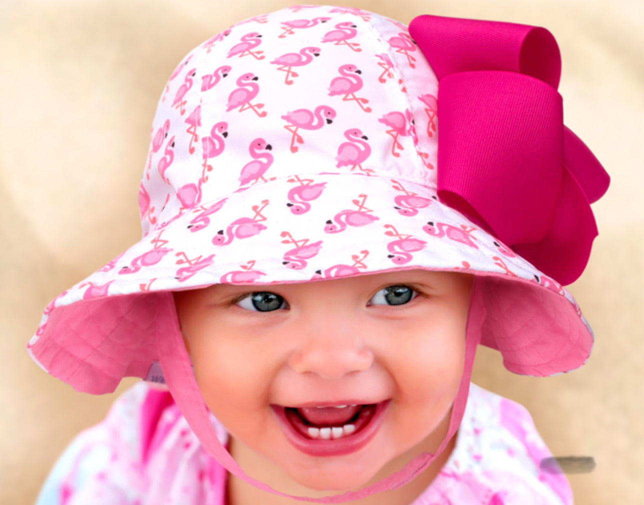Wee Ones Reversible Flamingo Sun Hat