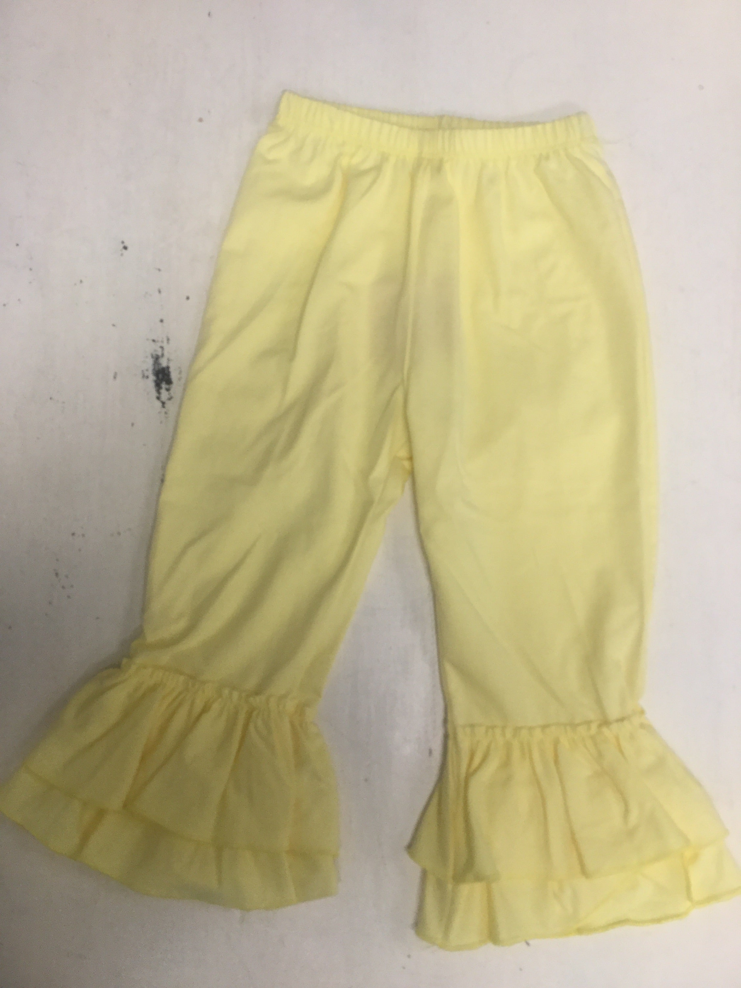 Tiered Yellow Ruffle Pants