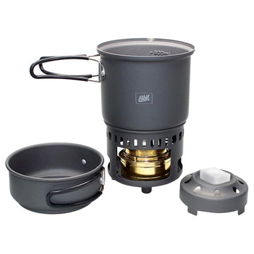 ALCOHOL BURNER & TREK COOKSET