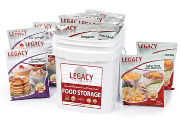 Legacy Premium 60 Serving Breakfast, Lunch, and Dinner Bucket