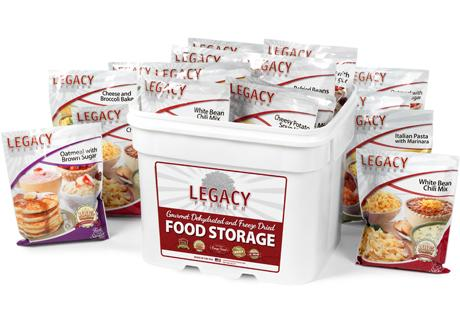 Legacy Premium 120 Serving Breakfast, Lunch, and Dinner Bucket