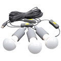 3 LED Lights (with USB plugs) By Lion Energy