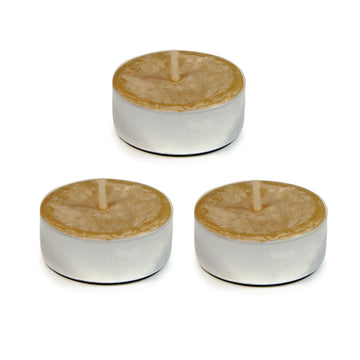 BEESWAX TEALIGHT CANDLE 3PK
