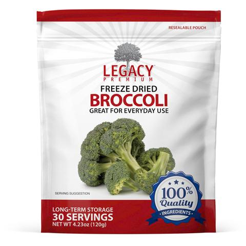 Image of 30 serving freeze dried broccoli pouch