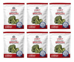 Image of 6 pack of 30 serving freeze dried broccoli pouches