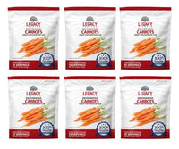 Image of 6 pack of 35 serving dehydrated carrot pouches