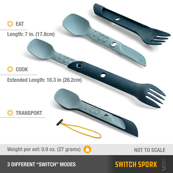 UCO SWITCH SPORK UTENSIL SET WITH TETHER
