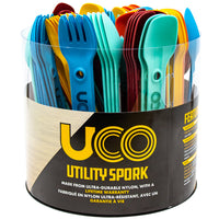 UTILITY SPORK PLEXI TUBE 120 PIECE ASSORTMENT