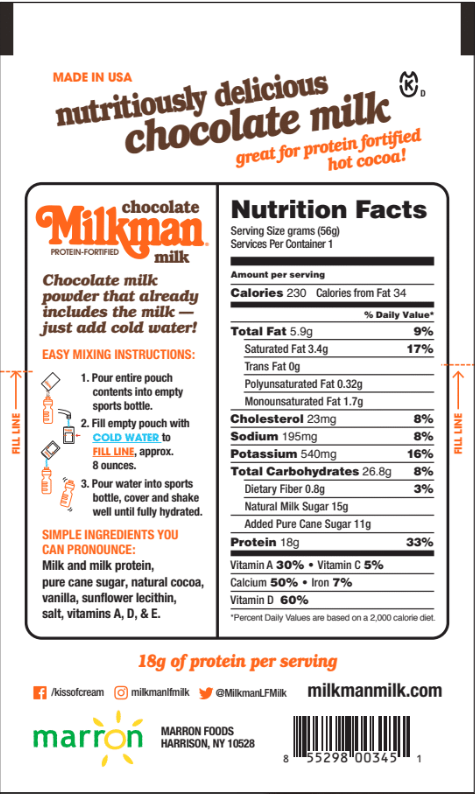 Milkman Chocolate Milk With 18g Protein