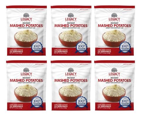 Image of 6 pack of 25 serving instant mashed potato pouches