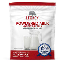 Image of 40 serving powdered milk pouch