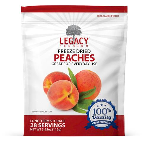 Image of 28 serving freeze dried peaches pouch