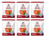 Image of 6 pack of 28 serving freeze dried peach pouches