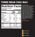Peak Refuel Three Bean Chilli Mac (6-Pack Case)