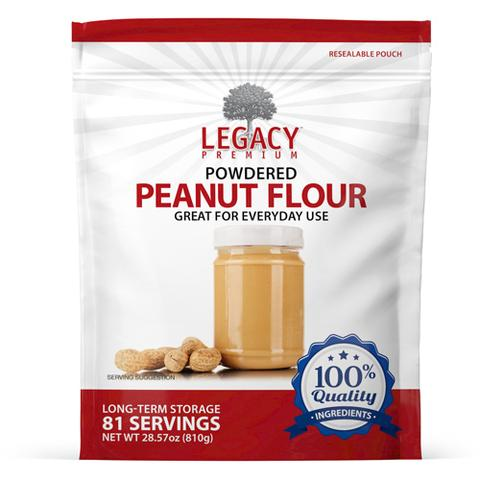 Image of 81 serving powdered peanut butter pouch