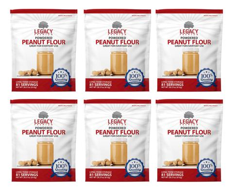 Image of 6 pack of 81 serving powdered peanut butter pouches