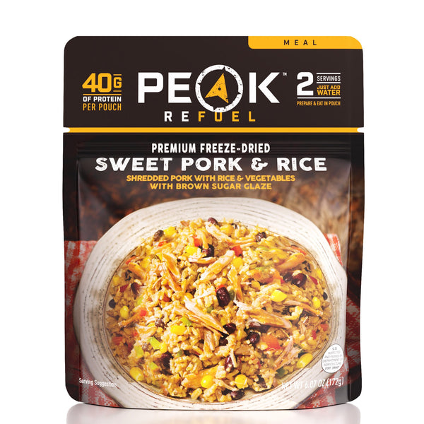 Peak Refuel Sweet Pork & Rice (6-Pack Case)