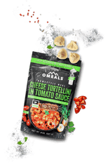 OMEALS CHEESE TORTELLINI IN TOMATO SAUCE - 24 PACK CASE