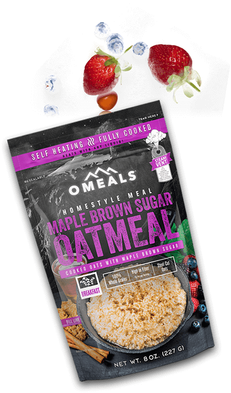 OMEALS MAPLE BROWN SUGAR OATMEAL - 24 PACK CASE