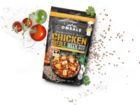 OMEALS CHICKEN CREOLE WITH BROWN RICE - 24 PACK CASE