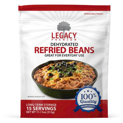 Image of 15 serving dehydrated refried beans pouch