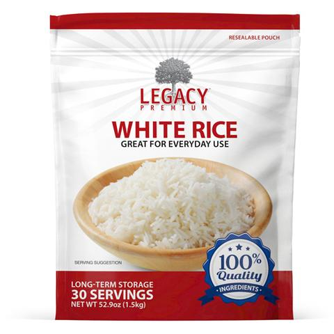 Image of 30 serving parboiled rice pouch