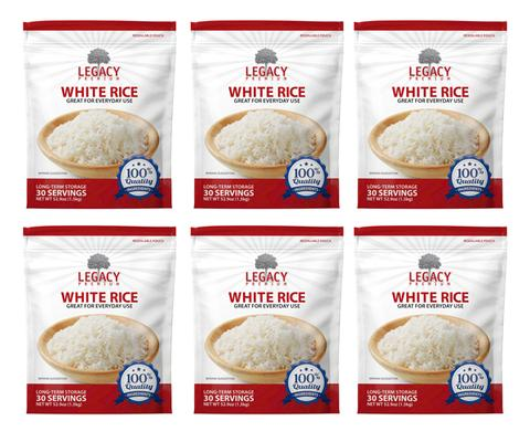 Image of 6 pack of 33 serving parboiled rice pouches