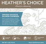 HEATHER'S CHOICE® SMOKED SOCKEYE SALMON CHOWDER - 25 PACK CASE