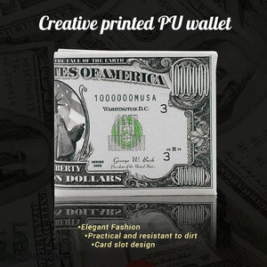 Creative Short National Money Pattern PU Wallet