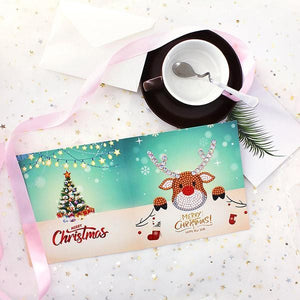 Christmas Card Diamond Picture ( 1 Set )
