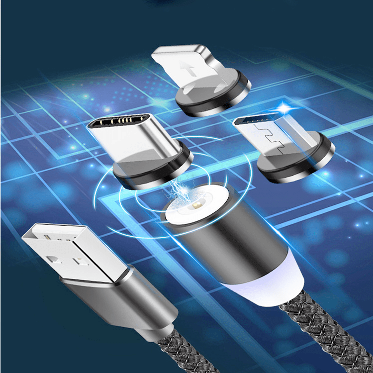 Connection for LED magnetic charging cable