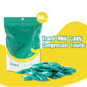 Travel Mini Candy Compressed Towels