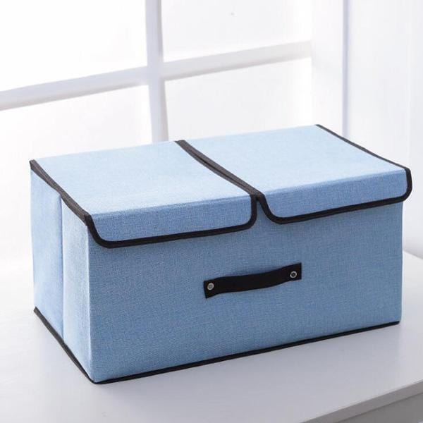 Cloth Art Folding Storage Box With Cover