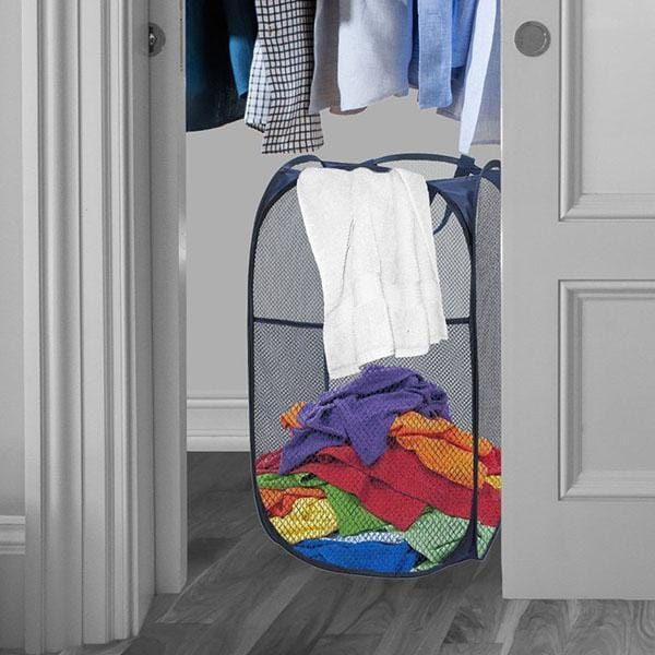 Mesh Popup Laundry Hamper, Collapsible Laundry Basket, Portable Storage Bag