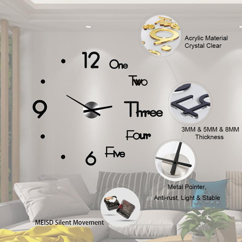 Modern Minimalist DIY Punch-free wall Clock