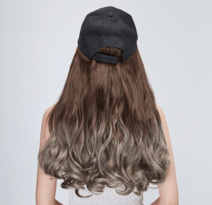 Baseball Cap With Wig