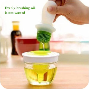 Oil Bottle With Silicone Brush For Cooking BBQ Kitchen