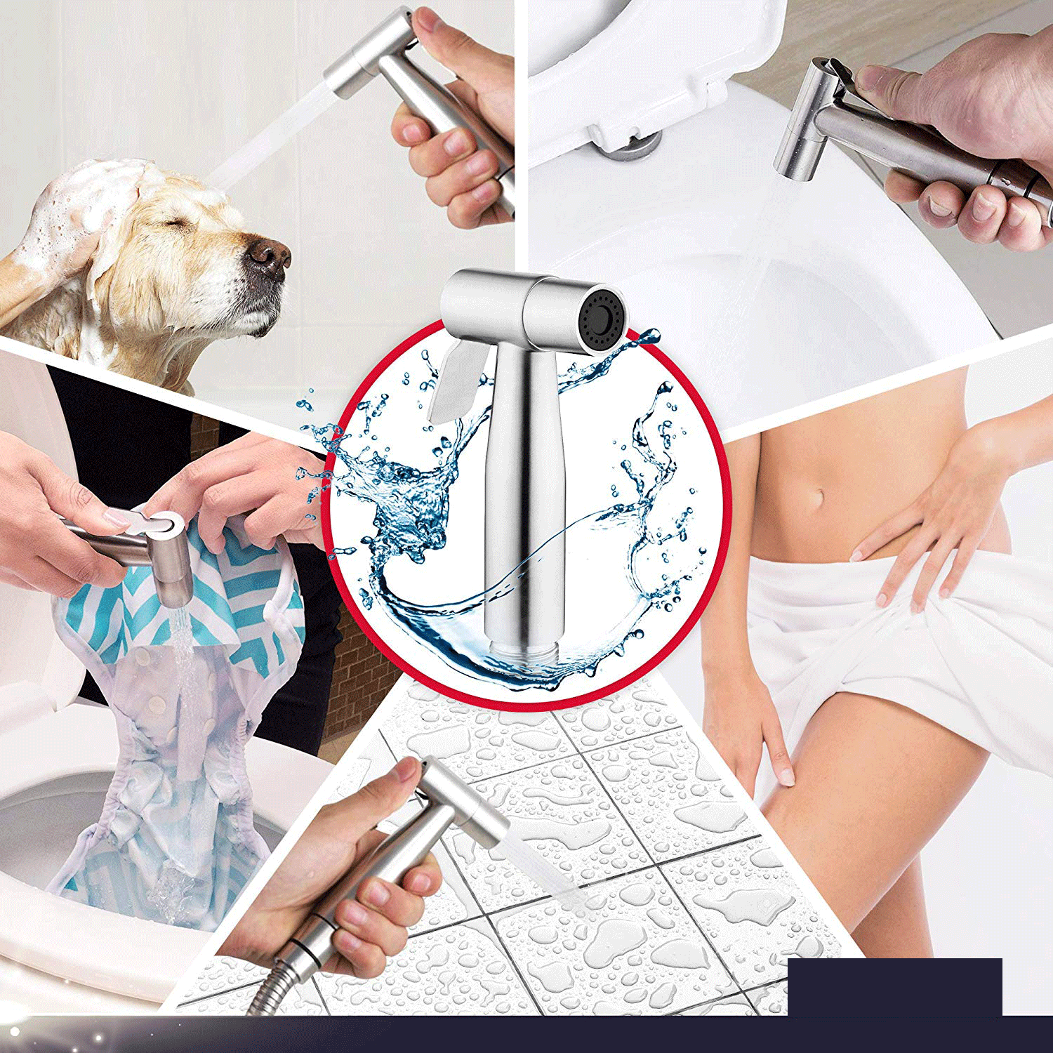 Double Outlet Hand Held Toilet Flusher