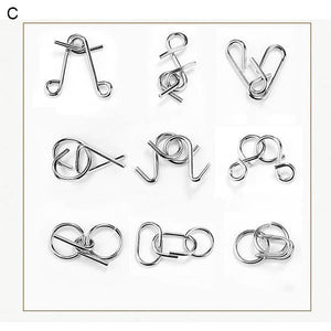 Nine Interlocking Rings Link