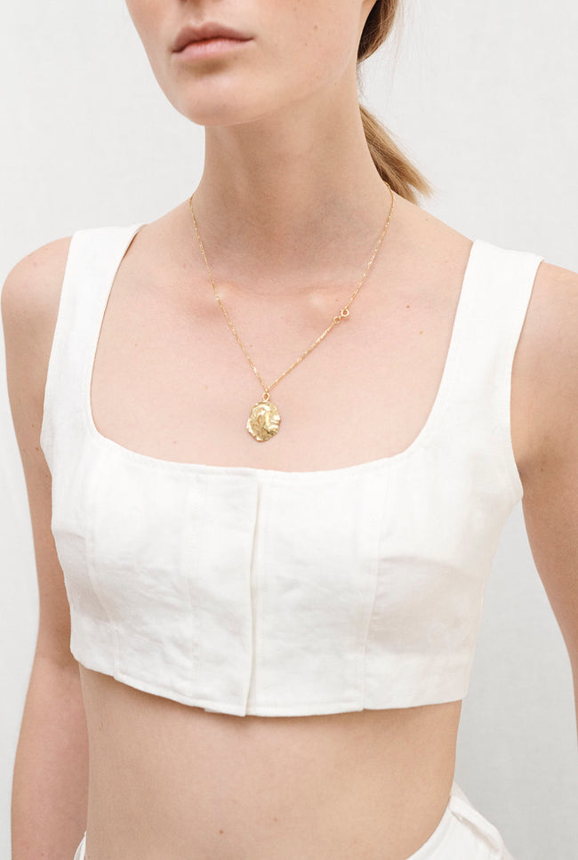 JIRJA linen crop top