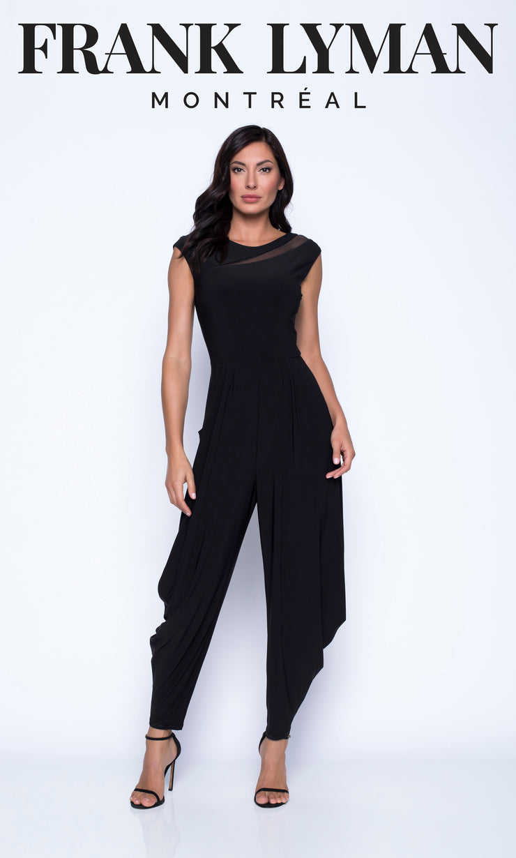 Jumpsuit with Mesh Inserts