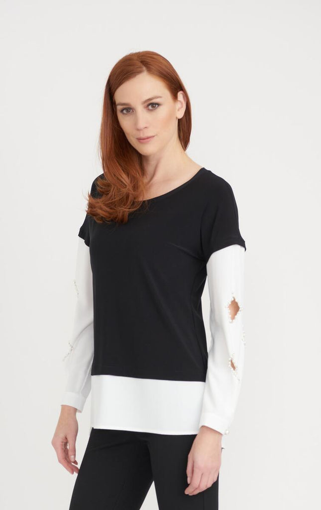 Diamond Cut Out with Pearls Tunic