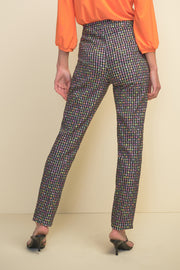 Joseph Ribkoff Floral Gingham Pull On Pant
