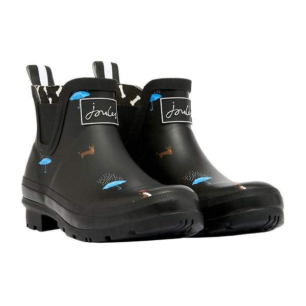 Rain Boots Black Cat Dog