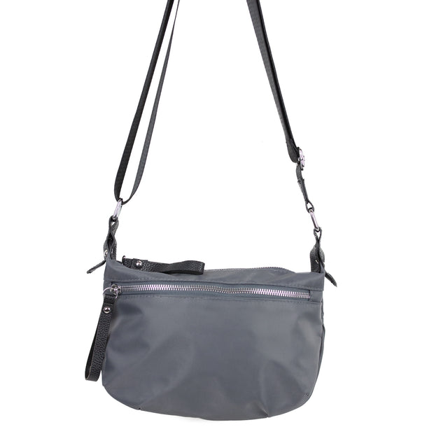 CROSSBODY COMPACT GRAY HANDBAG