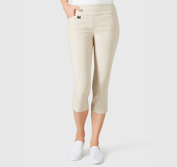 Capris Beige Slash Pocket