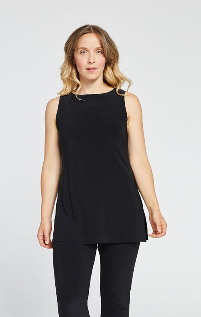 Sympli Nu Ideal Sleeveless Tunic Tank - Black