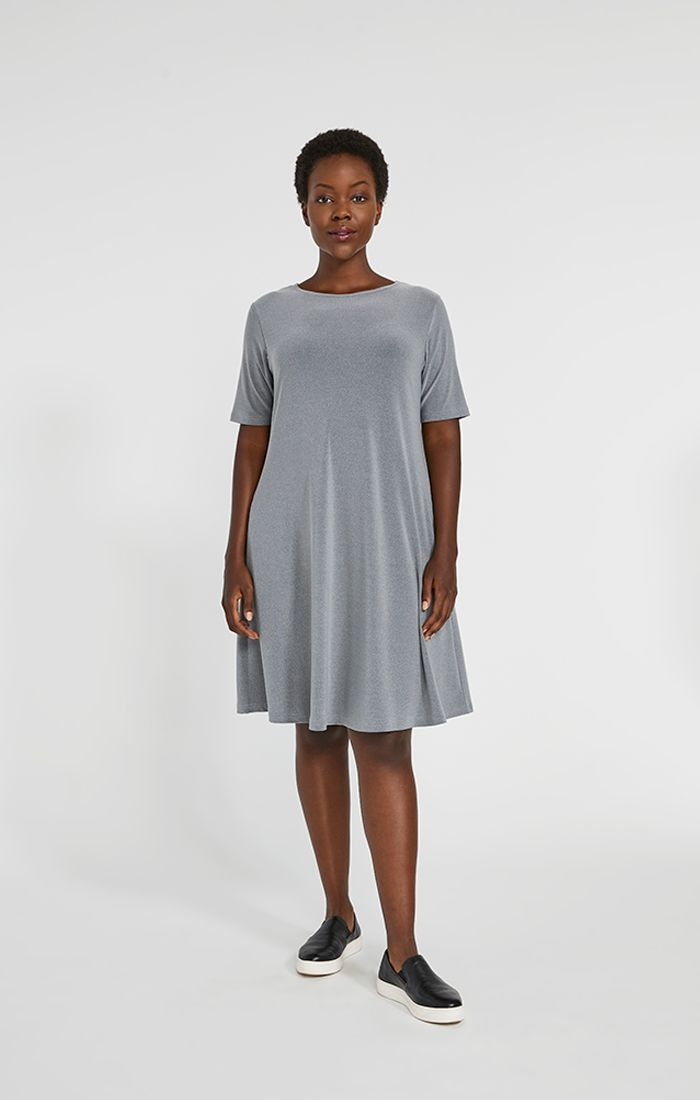 Short Sleeve Trapeze Dress