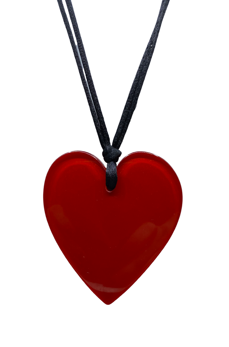 Rust Shimmer Heart Pendant Necklace